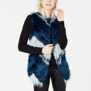 Bar III Faux-Fur Patchwork Vest, Created for Macy'